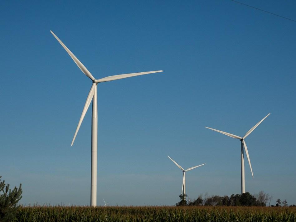 Image: Turbines at DTE's Pinnebog Wind Park. Credit: DTE Energy