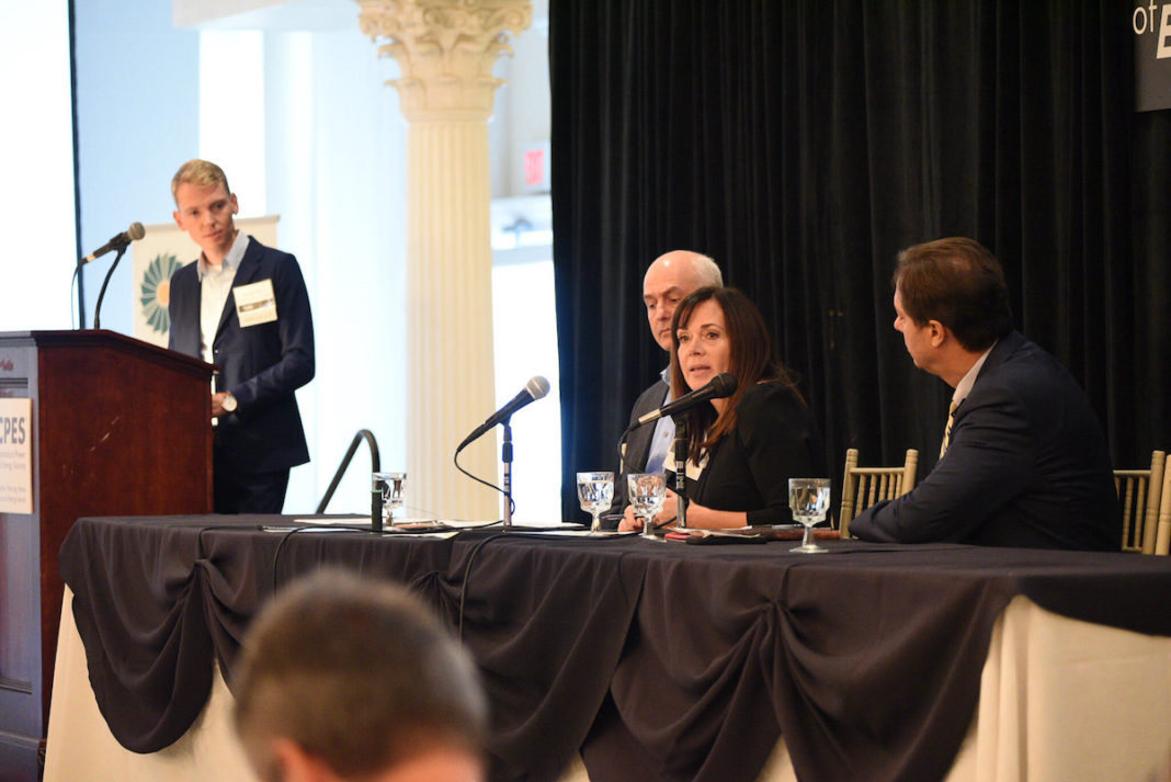 Kandi Terri, NRG, speaking at a panel during the CPES Future of Energy event. Credit: Jennifer MacNeil