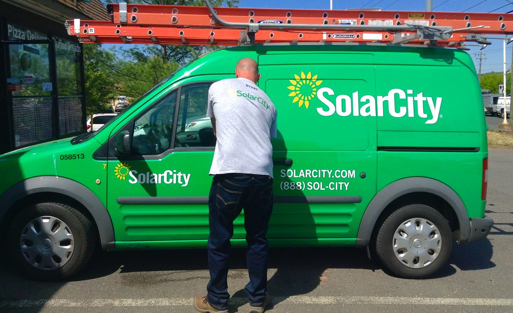 SolarCity truck. Image by Mike Mozart via Flickr