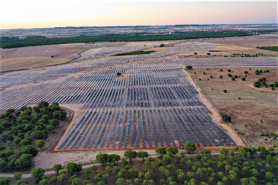 the 30-MW TORDESILLAS 1 solar PV plant, developed by Solaria. Credit: Solaria