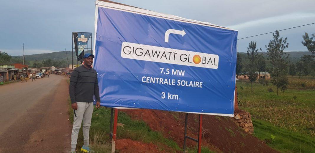 Patrick Nzitunga, Gigawatt Global project director in Burundi, near to the REPP-supported 7.5 MW solar field in Mubuga, Burundi
