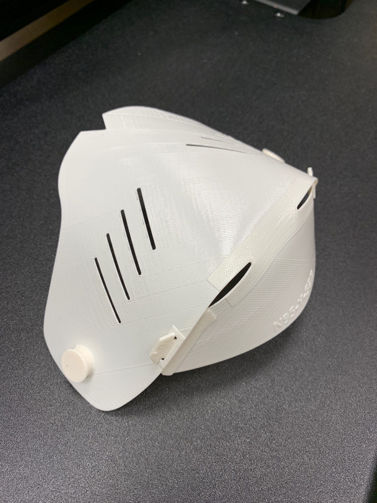 Innovation at GE's wind turbine factory allows for production of 3D-printed shield for N95 face masks