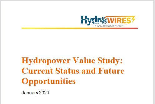 U.S. DOE releases hydropower value study