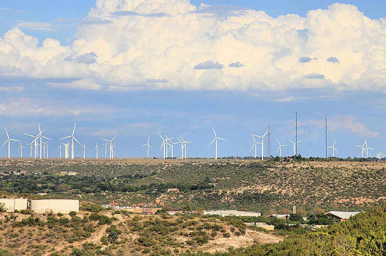 The Panther Creek III wind farm in Texas